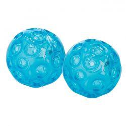 Mini balles Franklin®, la paire 7 cm bleu transparent | Balles Franklin® | Pilates.fr