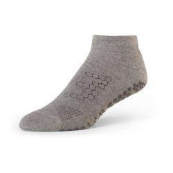 Chaussettes antidérapantes BASE 33™ Lowrise gris | Chaussette Pilates