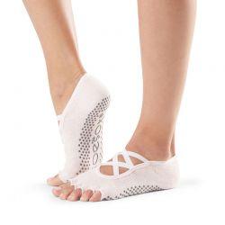 Chaussettes de Pilates Toesox® Half Toe Elle Ballet Pink