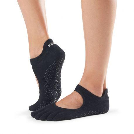 Chaussettes Pilates Toesox® Full Toe Bellarina Noir