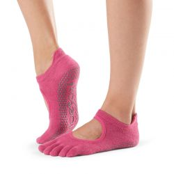 Chaussettes Pilates Toesox® Full Toe Bellarina Raspberry
