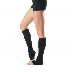Leg Warmers Knee High Black One Size