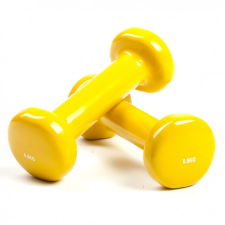 Haltère jaune 0.5 kg, la paire - Fitness - Exercise Pilates