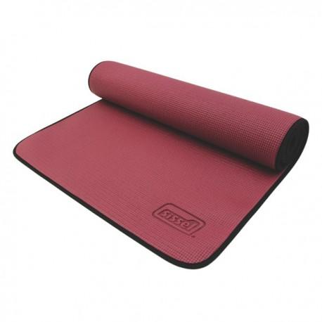 Tapis de gym anti-dérapant bordeaux pour Yoga et Pilates - Exercices Pilates - Sport Pilates