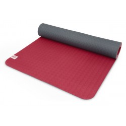 Tapis de gym Gris et Framboise Yoga Terra - Exercices Pilates - Sport Pilates - Respectueux de l'environnement