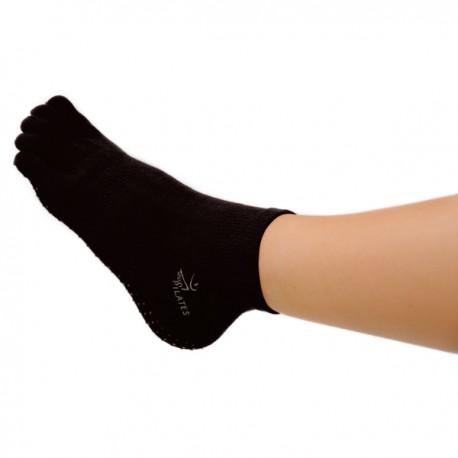 Chaussettes Pilates taille S/M avec orteils - Chaussettes antidérapentes - Chaussettes Pilates - Chausettes à Orteils