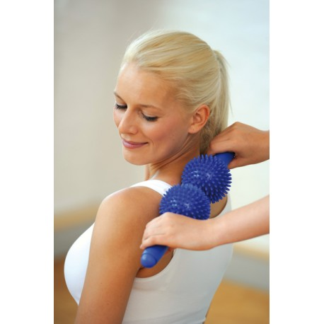 Mise en situation Spiky twin roller bleu - Rouleau massage - Exercices Pilates - Relaxation