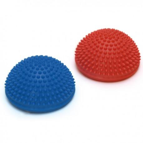 SISSEL® SPIKY DOME, lot de 2 rouge & bleu - Balles de massage et équilibre - Exercices Pilates