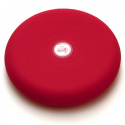 SITFIT® Rouge 33 cm - Plateau gonflé d'air - Ballon Musculation - Coussin d'assise - Exercices Pilates
