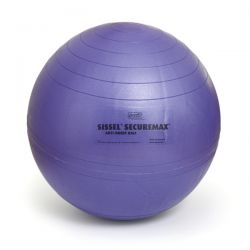 Ballon de Gymnastique Violet ou Swiss Ball SECUREMAX 45 cm  - Exercices Pilates - Résistant aux chocs
